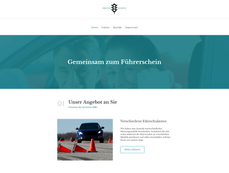 Website Für Fahrschule Einfach Erstellen United Domains